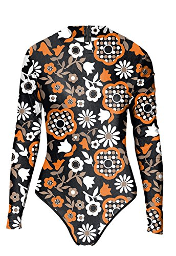 Thenice Damen Badeanzug Mehrfarbig schwarz onesize Blumenmuster