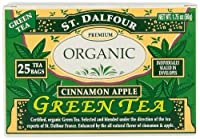 ST. DALFOUR Green Tea, Cinnamon Apple, 25-Count Tea Bags (Pack of 6)