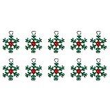 Scrox 10pcs Navidad Abalorios para Hacer Pulseras niñas Lindo Colgante Adornos Navidad Bricolaje Cuentas de Colores Hacer Pulseras Manualidades Material (H)