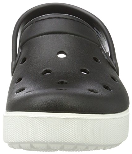 crocs CitiLane Unisex-Erwachsene Clogs Schwarz (Black/White)