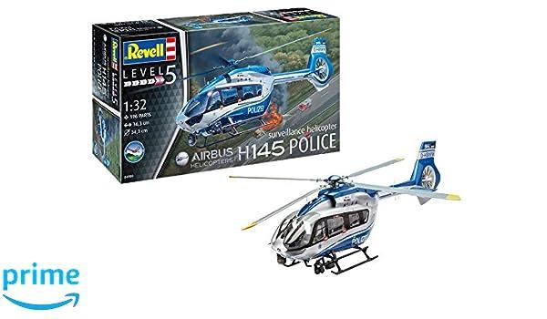 ab 14 Ja REVELL 04980 Modellbausatz H145 Polizei Überwachungshubschrauber 1:32 Sonstige