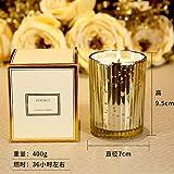 abcgo Kerze Glas Schlafzimmer Aroma Kerzenzeremonie Französisches Parfüm