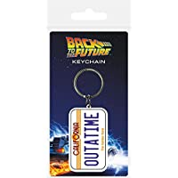 Pyramid International Back To The Future License Plate Rubber Keychain, Multi-Colour, 4.5 x 6 cm