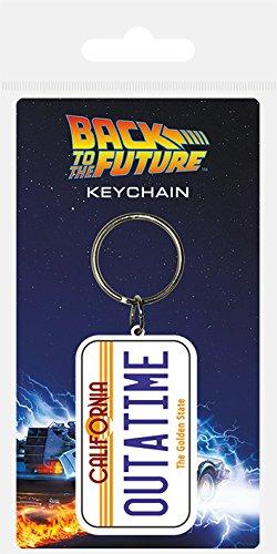 Back To The Future RK38572C Schlüsselanhänger aus Gummi, Mehrfarbig, 4.5 x 6 cm