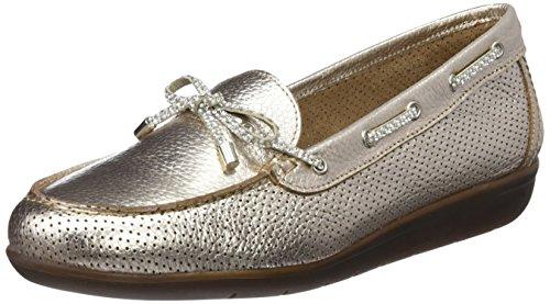 24 Horas 23538, Zapatos de Cordones Oxford para Mujer, Plateado (Plata 9), 36 EU