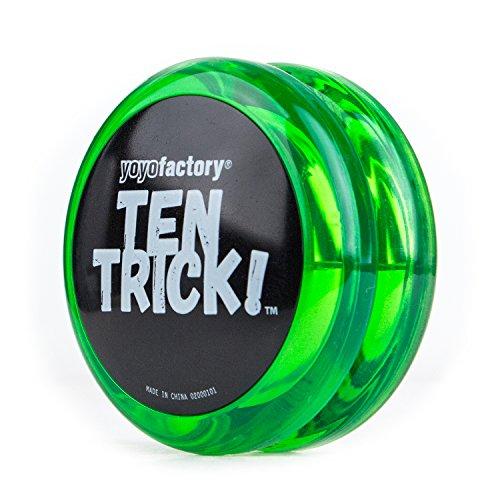 Yo-yo TenTrick by YoyoFactory - Grün (modern spinning yoyo, beginner friendly)