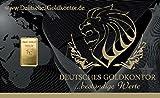 1,0 Gramm Gold Goldbarren Barren Bullion / 999,9 Feingold Barren-Karte
