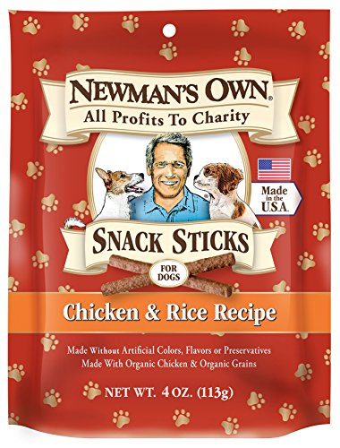 Newman 's Own Snack Sticks para perros (Pack de 6)