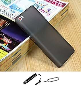 TCA Xiaomi Mi 5 0.3mm Ultrathin Polycarbonate Frosted TPU Matte Case for Xiaomi Mi5 Mi 5 - Black + Mini Stylus & Eject Pin