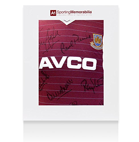 West-Ham-Signed-1986-Shirt-12-Autographs-Gift-Box