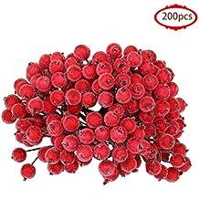 Switty Juego de 200 Mini Flores Artificiales de Navidad para Decoración de Flores de Cerezo,