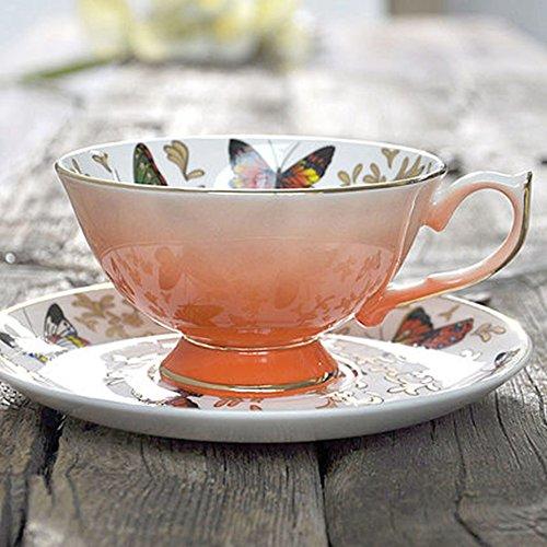 Set de café en céramique / Set de café en or pur à la main / Cadeau de mariage personnalisé créatif / (8 couleurs en option) ( couleur : B )