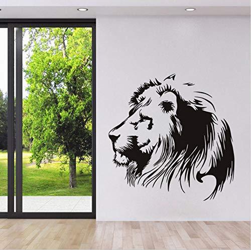 Lkfqjd Tier Wandtattoo Realismus Kopf Von Lion Schablone WandaufkleberKindergarten Kinderzimmer PosterwanddekorationMusterWohnkultur 58 * 90 Cm