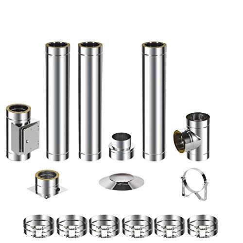 ADT Diamantwerkzeuge GmbH Kit de montage pour cheminée en acier inoxydable DW 150 4,2m 0,5