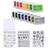 CCINEE 23piezas de almohadillas y clara sellos de goma mixed grupo para uso con cualquier goma Art/Craft sellos