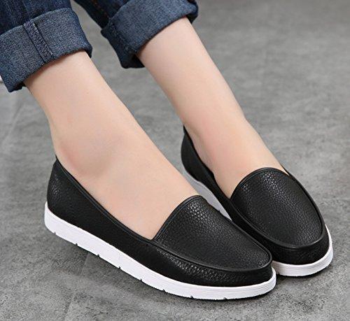DQQ punta arrotondata, da donna, antiscivolo, per scarpe da uomo Black