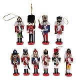 B Blesiya 10 Unids 12 Cm Decoraciones De Navidad Soldados De Madera Cascanueces Títeres Figuras Colgantes Adornos De Navidad Mesa De Oficina En Casa Escritorio