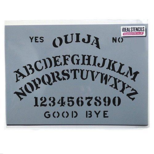 Kunst Kostüme Halloween Handwerk Und (Ouija Board Schablone Halloween Dekorieren Kunst Handwerk Ouija Board Kostüm malen Schablone - semi-transparent Schablone, S/)