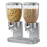Honey-Can-Do KCH-06124 Dispenser Doppio Indispensable, Argento, 20x35x41 cm