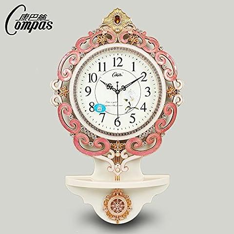 XB.T Regalo de navidad 20 pulgadas Retro rústico silenciosa creativa Reloj de pared para Salón