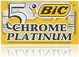 BIC Boite de 5 Lames Rasoir Chrome Platinum double tranchant