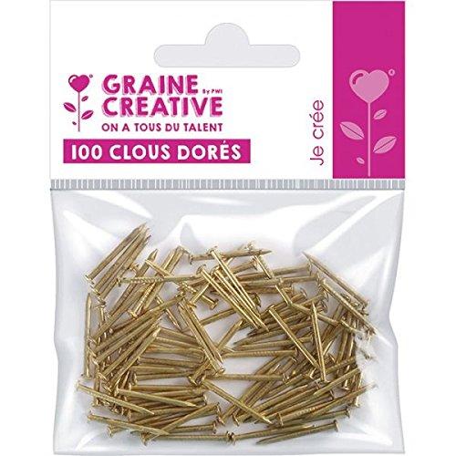 100 goldene Nägel für Schnur Kunst - String art - 20 mm