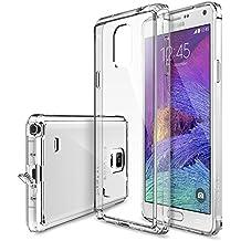 Ringke - Samsung Galaxy Note 4 funda - Fusion [protector de pantalla gratuito][crystal view] prima crystal clear back absorcin de choque de parachoques del funda duro con proteccin de pantalla hd gratis