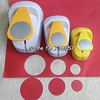 SAOJI 5cm 3.8cm 2.5cm Round shape craft punch set children manual DIY hole punches cortador de papel de scrapbook School Circle punch,3pcs