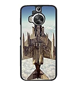 Fighter Plane 2D Hard Polycarbonate Designer Back Case Cover for HTC One M9 Plus :: HTC One M9+ :: HTC One M9+ Supreme Camera