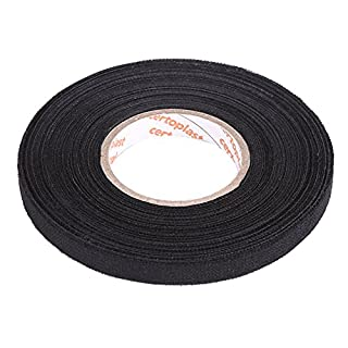 MultiPurpose Car Wiring Harness Tape, Keenso Self Adhesive Anti Squeak Rattle Felt Automotive Wiring Harness Tape, Black (9mm*25m)