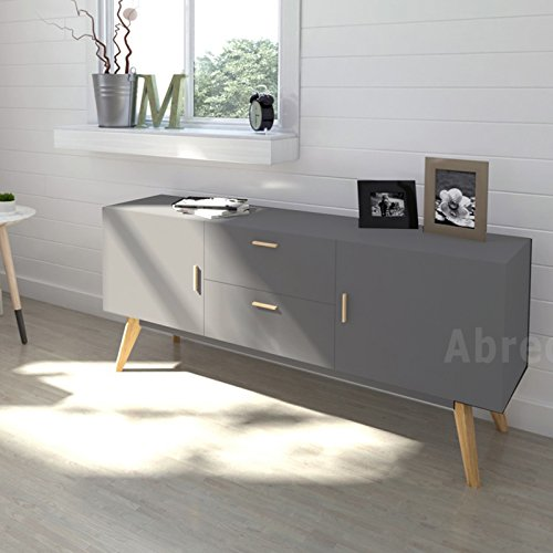 scandinavian retro sideboard television stand in white. Black Bedroom Furniture Sets. Home Design Ideas
