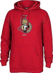 NHL Ottawa Senators Mens Jersey Crest Pullover Hoodie, Medium, Red
