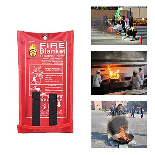 Feuerlöschdecken, Fiberglas Feuer Notdecken, Unterdrückungsdecke, Flammhemmende Decke, Notüberlebens-Sicherheitsabdeckung Für Küchenkamin Auto -