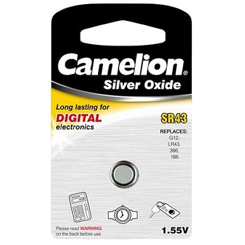 Camelion SR43 1.55 V Silver Oxide Button Cell Battery