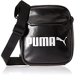 Puma Campus Portable PU Bag, Unisex Adulto, Black, OSFA