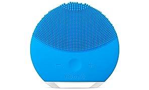 FOREO LUNA mini 2 - Dispositivo Pulizia Viso in silicone molto delicato e adatto a tutti i tipi di pelle,  Blu (Aquamarine)