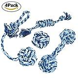 Hund Spielzeug, Chickwin 4PC Kauen Geflochten Seil Langlebig Pet Spielzeug Baumwolle Zahnreinigung Seil Spielzeug Ausbildung Kleine und mittelgroße Hunde Spielzeugsets