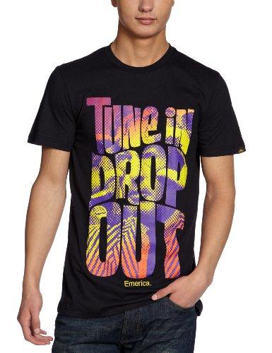 Emerica Herren T-Shirt TUNE IN DROP OUT Black