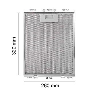 Filtro campana extractora Universal DM60 DM90 DE90 DS90 40472918 Medidas: 320 mm x 260 mm