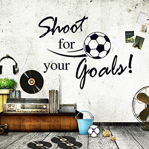 Fliegen Fußball Schießen Für Ihr Ziel Wandaufkleber Englisch Buchstaben Home Aufkleber Aufkleber Für Kinderzimmer Wohnzimmer Decor Wandbild -