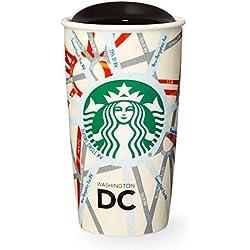 Starbucks doble pared de viaje taza de vaso Washington DC Calle mapa