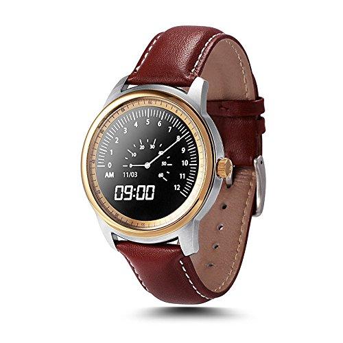 Galleria fotografica Lemumu Smart Watch Full HD Schermo IPS SmartWatch bluetooth Tracker Fitness app per iphone per Ios Andriod phone,argento