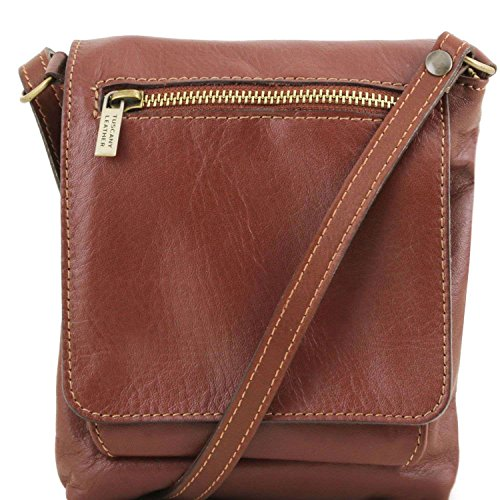 Tuscany Leather - Sasha - Sac mixte en cuir souple - Marron