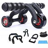 YDSP Roller piccolo Trainer a mano con spesso knieauflagematte dal pancia Trainer/Push up di supporto/Impugnatura/polso/pastiglie freno con Comfort maniglie addominale