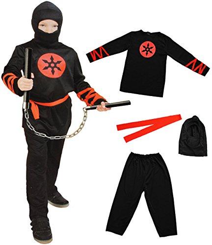 Machen Zu Kostüm Ninja Einfach - alles-meine.de GmbH 4 TLG. Kostüm -  Ninja - Kämpfer  - 9 bis 11 Jahre - Gr. 140 - 152 - Karneval - Fasching + Halloween / Hose + Shirt / Kapuze + Gürtel - Kinderkostüm - Mädch..