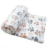 Da.Wa Haustierdecke Zwinger Pad Hundedecke Herbst und Winter Warme Decke Dick Coral (Beige,60x40cm,S)