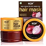 WOW Skin Science Red Onion Black Seed Oil Hair Mask with Red Onion Seed Oil Extract and Black Seed Oil, 200 ml
