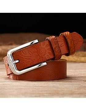 SILIU*Cinturón de cuero, la Sra. long cinturones de cuero hembras silvestres amplia ocio jeans cintura mayor grueso...