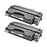 2 XXL Toner für Canon Catridge 708 I-Sensys LBP 3300 3360 Lasershot LBP 3300 3360 - 0266B002 - Schwarz je 3000 Seiten