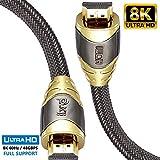 Cavo HDMI di Luxury IBRA 2.1 Cavo 8K ultra veloce a 48 Gbps | Supporta 8K@60HZ,4K@120HZ,4320p,compatibile con Fire TV, supporto 3D, funzione Ethernet, 8K UHD, 3D-Xbox PlayStation PS3 PS4 PC ecc- 1.5M